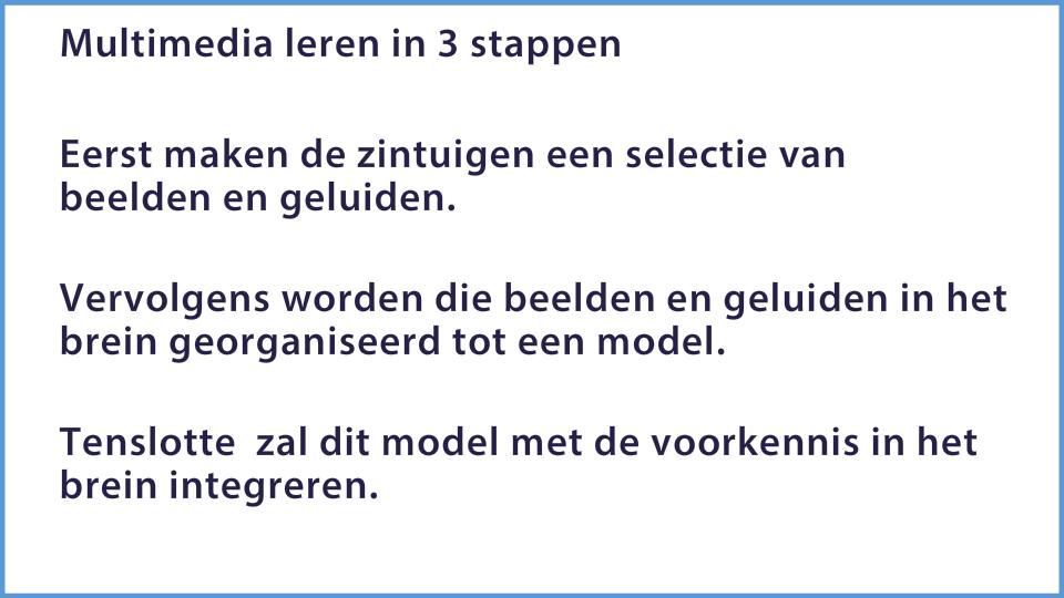 Mayer: Personaliseringsprincipe: situatie voor