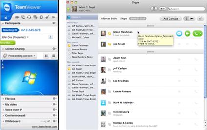 Skype + Teamviewer